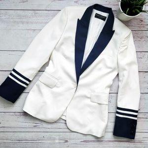 EQUIPMENT FEMME Anais Nautical Wool Blazer White 4